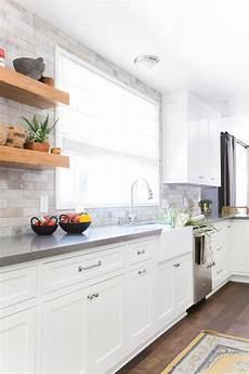 Backsplash For Kitchen With White Cabinet A Serene California Cottage In Studio City White