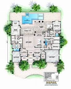 courtyard pool house plans house plans with courtyards mediterranean courtyard ranch