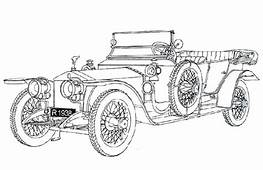 Silver Ghost Rolls Royce Antique Car Coloring Pages
