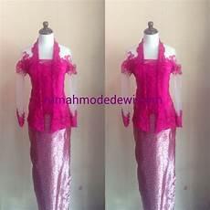 Kebaya Kartini Warna Pink Fanta