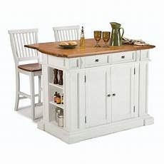 home styles white midcentury kitchen islands 2 stools at lowes com