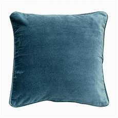 Housse De Coussin En Coton 40x40 Bleu Interior S
