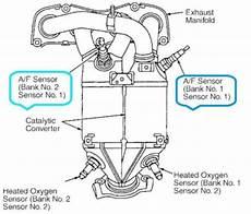 rav4 2 0 vvti 1azfe o2 oxygen sensors precat bank 1 sensor