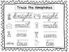 cursive writing worksheets for grade 2 22809 2 cursive trace the homophones worksheets kdg 2nd grade handwriting