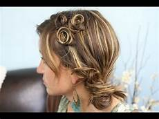 pin curl coil accents back to school cute girls hairstyles youtube