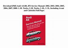how to download repair manuals 2006 audi a4 seat position control download pdf audi a4 b6 b7 service manual 2002 2003 2004 2005