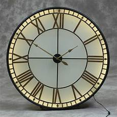 back lit westminster clock 81 cm avenue interiors large black gold westminster wall clock back lit