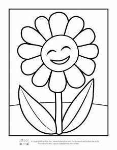 flower coloring pages for itsybitsyfun