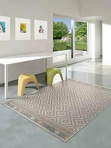 pflegeleichter teppich benuta outdoor teppich star geometrisch taupe 80 215 150 cm