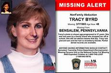 missing person pa purple toyota tracy byrd age now 48 missing 03 07 1983 missing from bensalem pa anyone having infor
