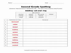 second grade spelling adding ed and ing worksheet for 2nd grade lesson planet