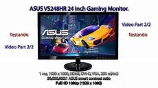 gaming monitor test asus vs248hr gaming monitor 24 fhd test pt 2