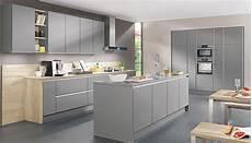 Kuche Anthrazit Matt Holz - lino kitchen laser edge mineral grey matt handle less
