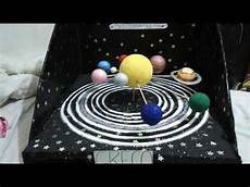 maqueta sistema solar giratoria 4 b youtube