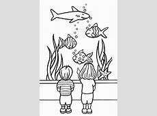 Vissen kleurplaten: aquarium