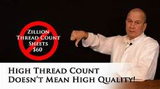 high thread count doesn t high quality bed sheets youtube
