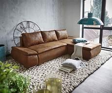 couch mit ottomane delife couch abilene braun 260x175 mit bettfunktion