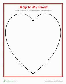 map of my heart worksheet education com