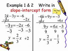 ppt converting between standard form and slope intercept