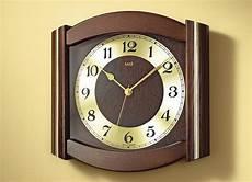 Funk Wanduhr Aus Massivem Holz In 3 Farben Uhren Bader