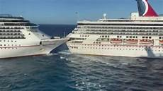 carnival cruise ships collide at port in mexico six minor injuries reported fox news