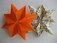 origami sterne falten anleitung how to fold an origami eight pointed 4 steps with