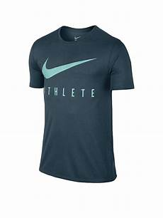 nike herren fitness t shirt dri fit petrol s