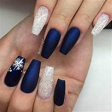 50 stylish winter acrylic coffin nail designs to copy