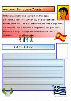 worksheets a1 18776 creative writing introduce yourself 1 a1 level worksheet free esl printable worksheets made