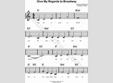 play my regards to broadway