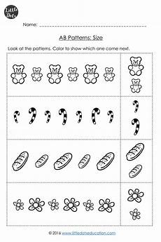 patterns worksheets pre k 208 pre k ab patterns worksheets