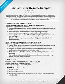 how to do resume in english english tutor resume sle resume companion