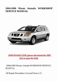 car repair manuals online free 2009 nissan armada transmission control 2004 2009 nissan armada workshop service manual by sally mool issuu