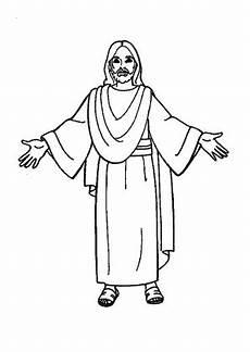 Ausmalbilder Ostern Jesus Ausmalbild Jesus 2 Kostenlos Ausdrucken