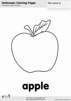 apple coloring page simple