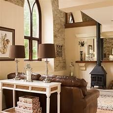 Country Living Room With Stove Ideal Home