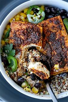 southwestern style baked tofu steaks pickled plum food