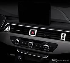 for audi a4 s4 a5 s5 b9 2017 2018 auto car front central button a c vent trim cover sticker