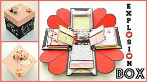 How To Make Exploding Memory Box  DIY Surprise Gift For