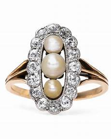 Pearl Wedding Rings pretty pearl engagement rings martha stewart weddings