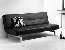 sofa cama negro sof 225 cama click clack en s 237 ml piel negro con patas