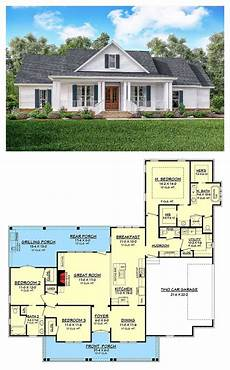 3 bedroom country house plans classic 3 bed country farmhouse plan floor plans in 2019
