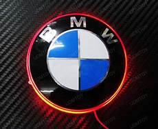 1 82mm brilliant emblem led background light for bmw