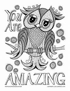 free coloring page 015 fw d006 bliss owl and adult coloring