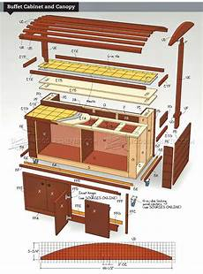 rolling outdoor buffet table plans woodarchivist