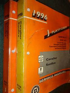 automotive repair manual 1996 pontiac sunfire on board diagnostic system 1996 chevrolet cavalier pontiac sunfire shop manual set original g m books ebay