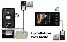 Interphone Portier Sans Fil Interphone Portier Visiophone Sans Fil 2 Moniteurs