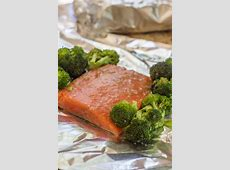 grilled salmon in foil on gas grill