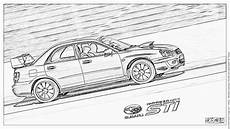 subaru impreza wrx sti coloring pages printable free