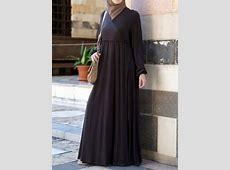 SHUKR USA   Faux Wrap Abaya   Maksi elbiseler, Elbiseler